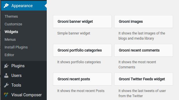 grooni-widgets