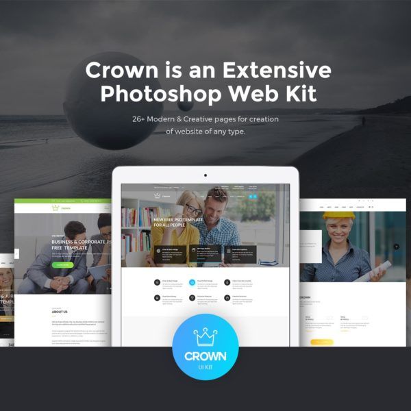 Crown PSD Web Kit