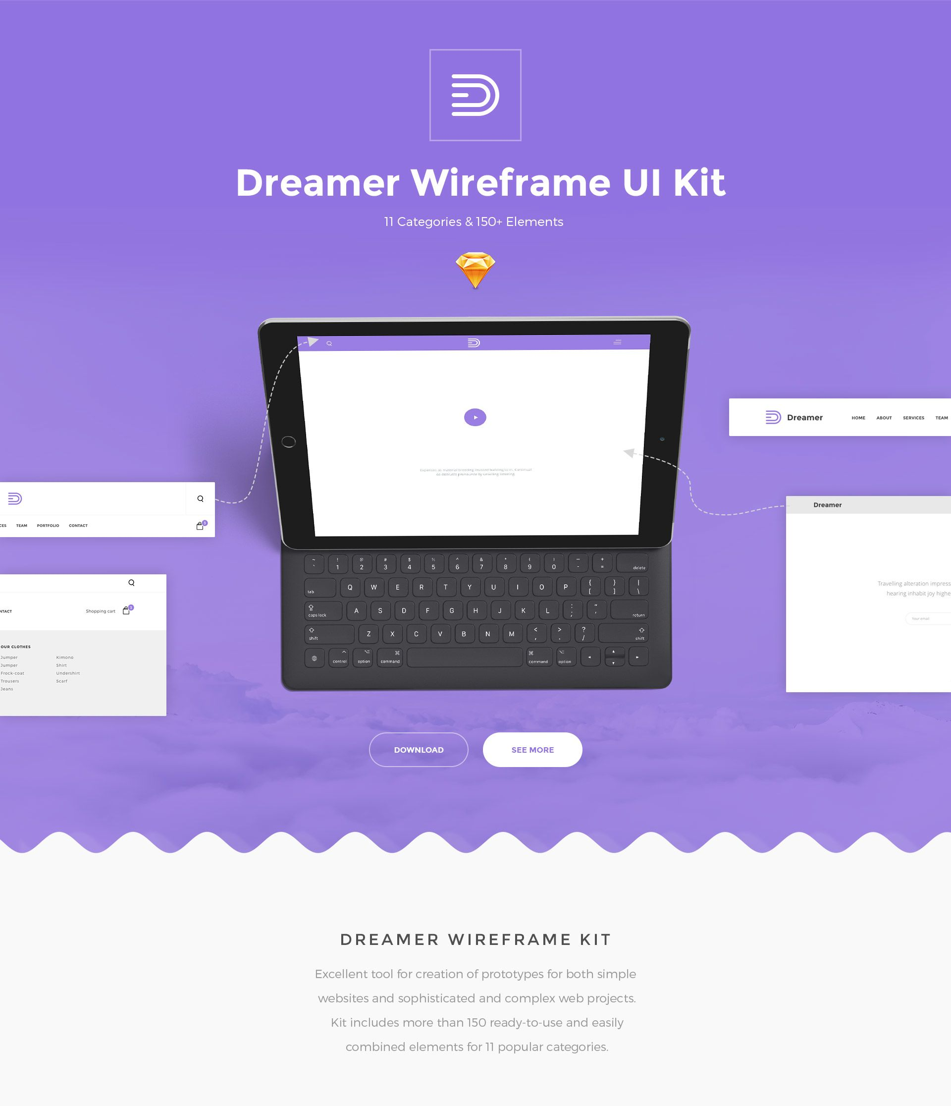 wireframe ui kit