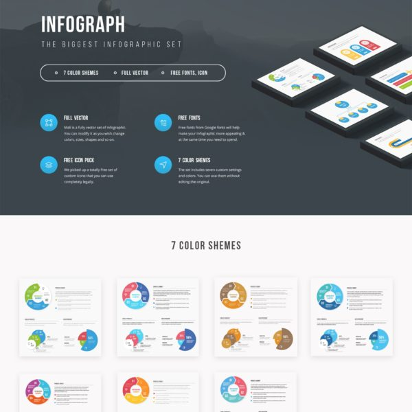 Infograph Vector Infographic Elements Kit
