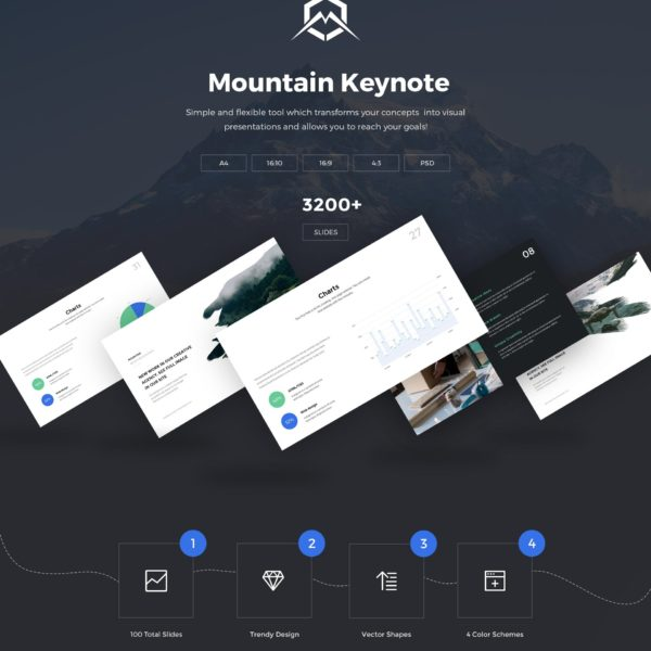 Keynote presentation template - Mountain