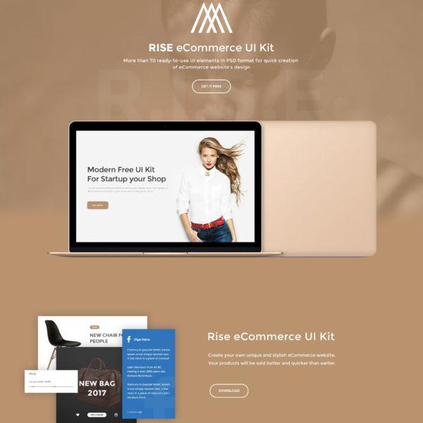 Free eCommerce UI Kit - Rise