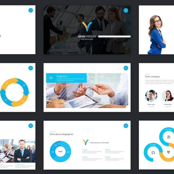 Venes - Powerpoint template