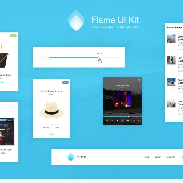 Flame UI Kit for Sketch