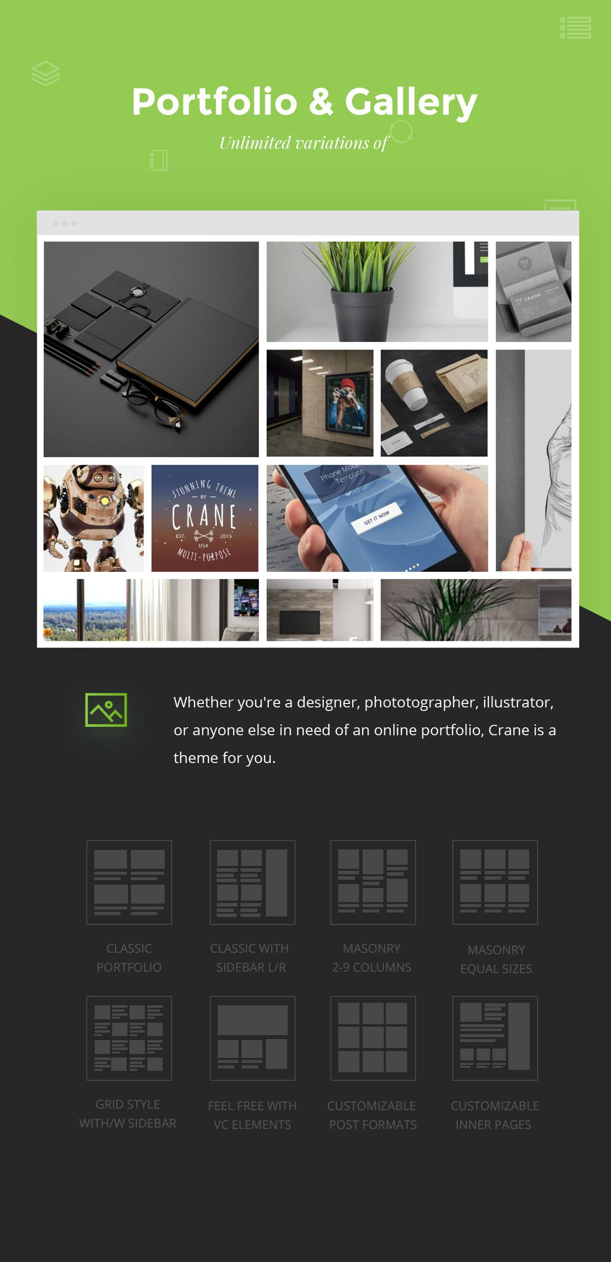 Elegant Outstanding Portfolio and Galleries widgets