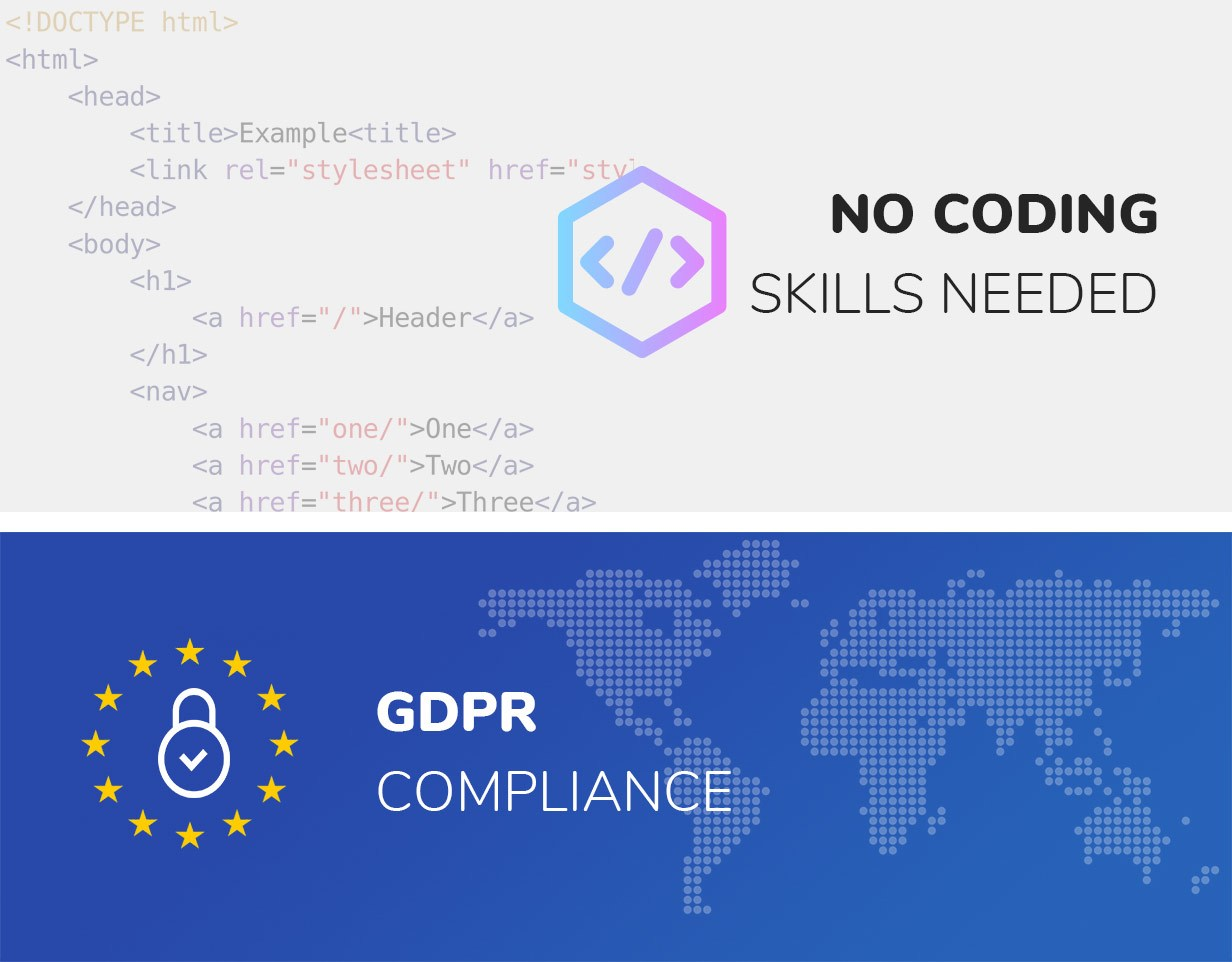 wordpress mega menu gdpr no coding skills
